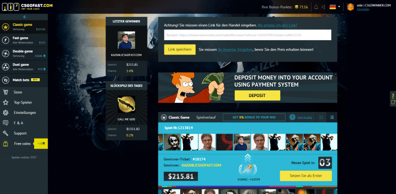 csgofast website